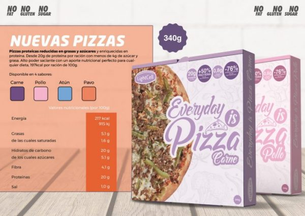 Pizzas Proteicas LightCell