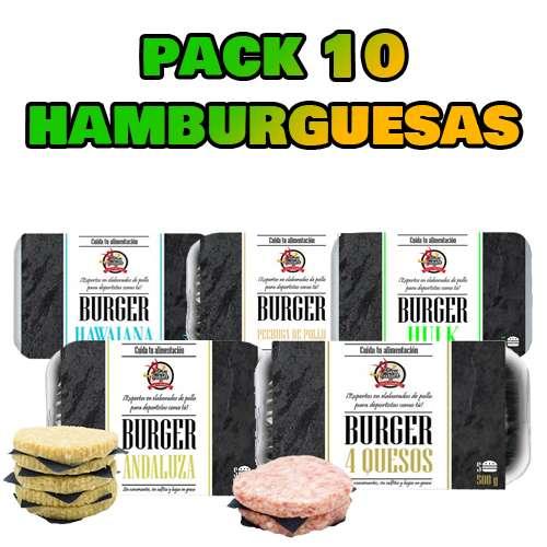 PACK DE 10 HAMBURGUESAS + 1 GRATIS