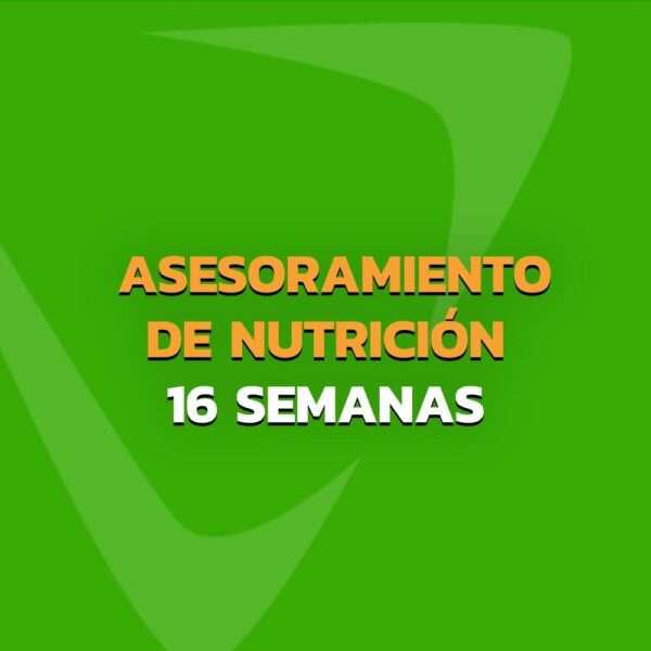 Asesoramiento de Nutrición - Plan personalizado 16 Semanas