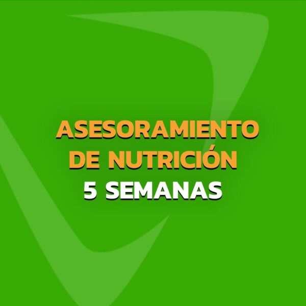 Asesoramiento de Nutrición - Plan personalizado 5 Semanas
